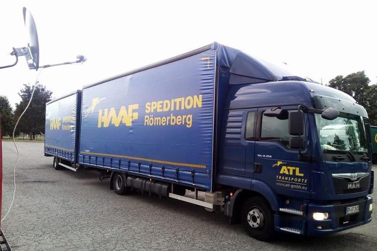 Volumen-LKW der ATL GmbH in Römerberg